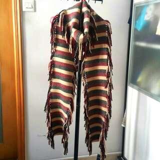 [英國製造]Burberry London 100% lambswool scarf 羊毛頸巾/披肩/圍巾