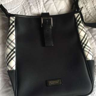 Burberry black label cross body bag