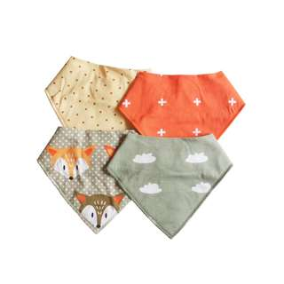 Charming Hues Bib in Sets of 4 made in 100% Natural Cotton For 0-2 Years Old