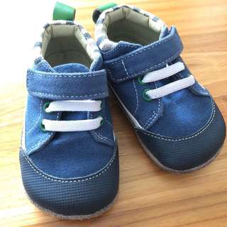 Smaller by See Kai Run Velcro Blue Sneakers Baby Shoes