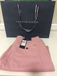 Tommy Hilfiger stripped shorts (red)