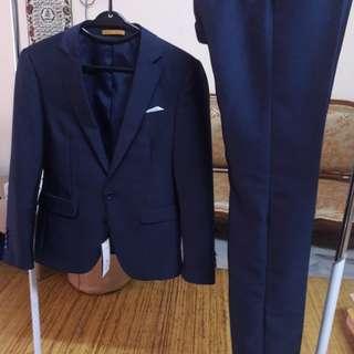 Suit Navy Blue - Wedding , Event , Grand Dinner