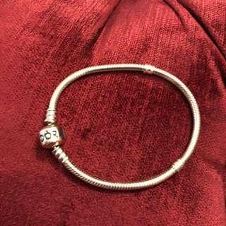 PANDORA 潘朵拉銀飾蛇鍊-17公分(近新品)