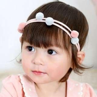 Cute Baby Headband- Pompom