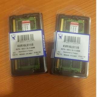 8GB * 2 Kingston DDR3 RAM (1600 MHHz)