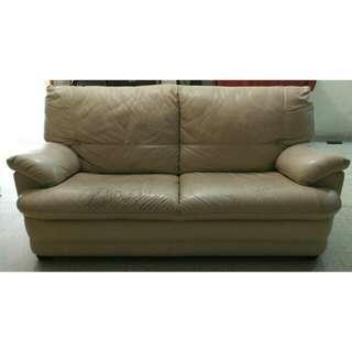 2 + 3 leather sofa