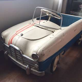 Vintage Tin Pedal Car in Original Paintwork