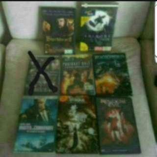 Clearance DVDs 8 Different Titles  1. Blackbeard  2. Shinobi  3. 71 into the fire (Sold)  4. Resident evil degeneration  5. Transformers revenge of the fallen  6. Master and commander the far side of the world  7. IP man  8. Resident Evil