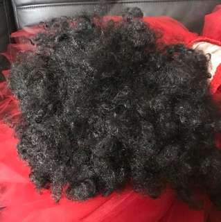 Bombastic black curly hair wig (Full proceed goes to charity)