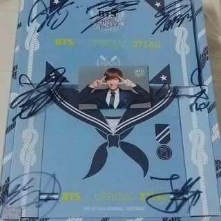 Bts防彈少年團 夏日summer package2014 簽名版 jhope小卡