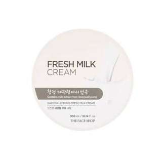 The Face Shop Fresh Milk Cream 💕