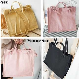 Young-Soo Canvas Tote Bag.