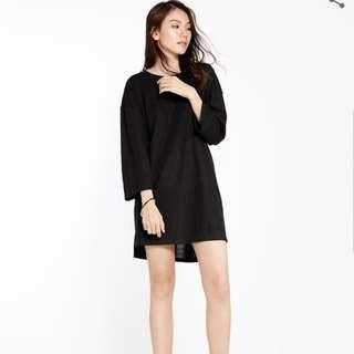 Pomelo T-Shirt Dress (Black)