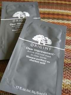 Origins active charcoal mask 5ml x 2