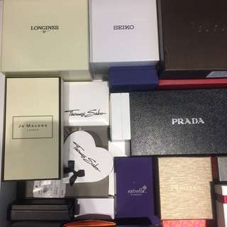 Branded accessories boxes & paper bag