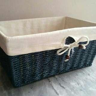 Blue Rattan Box