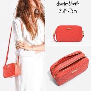 Charles&keith quilted bag