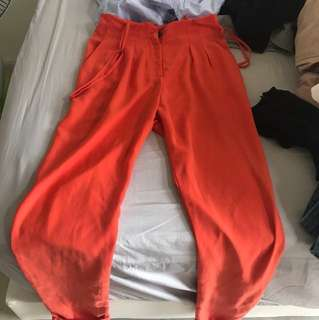 Plain orange pants for work