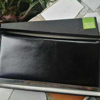 Marithe Francois Girbaud Original Classic Long Black Wallet for Men and Women