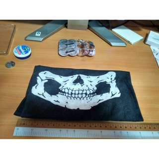 {MEET UP BELOW} halloween white skull black bandana breathable stretch