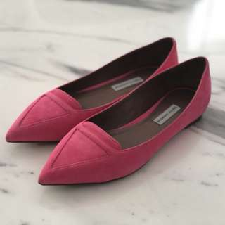 Tabitha Simmons Hot Pink Suede Flats 37.5