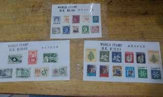 香港,美國,加拿大舊郵票