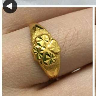 916 Gold Adult Ring size 11 or 15 or 16