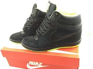 Nike Force Sky High Womens Shoes 644413-006 Black US 7 内增高