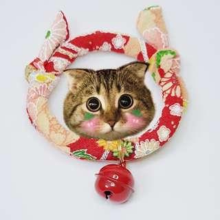 Oui.abi Japan Kimono Cat Dog Rabbit Pet Collar - Spring