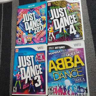 Wii and Wii U Just Dance Games/ ABBA dance