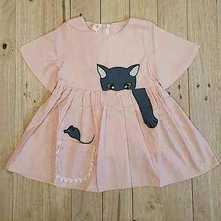 Pink cat dress