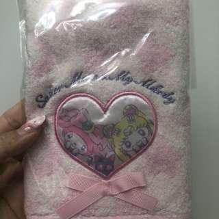 已絕版 全新正品Sanrio Sailor Moon x My Melody 美少女戰士毛巾
