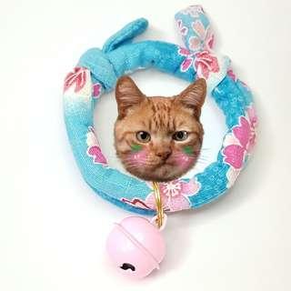 Oui.abi Japan Kimono Cat Dog Rabbit Pet Collar - spring sakura