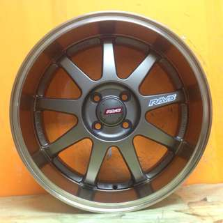 17inch SPORT RIM KC DECOR RAYS WHEELS JAPAN DESIGN