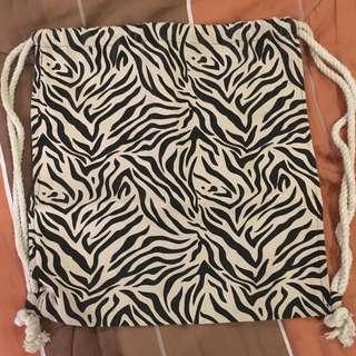 Cordes and Totes Printed Drawstring Bag