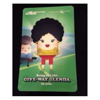 EZ Link card: LTA Collectible Give-way Glenda