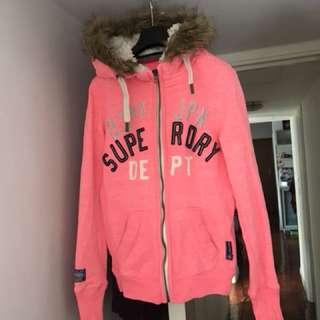 Superdry size S 粉紅外套
