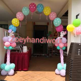 Helium balloon arch-- colourful, suitable for indoor or outdoor, for all parties