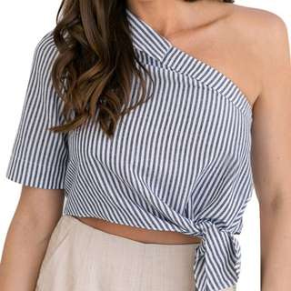 BLOUSE CROP TOP ONE SHOULDER