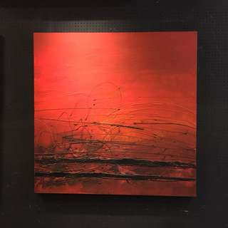"""""""RED PASSION"""" oil painting. 100cm x 100cm"""