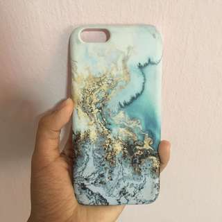 abstract blue and gold marble i phone 6s matte casing