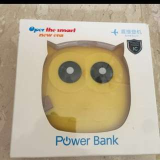 Power Bank Yellow Owl