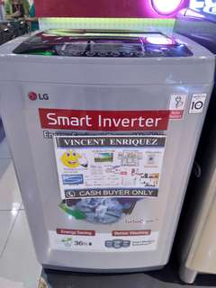 Lg smart inverter top load washing machine 7.5kg