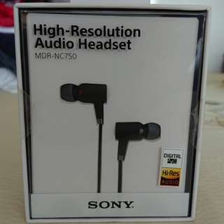 Sony high resolution headset MDR-NC750
