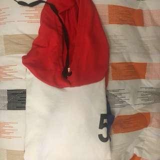 Korean Colorblock Hoodie Cropped Top
