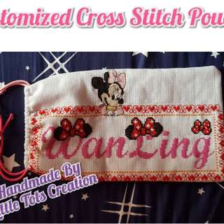 Customized Cross stitch Pouch