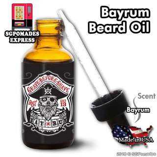 (Free mail) Bayrum Beard Oil by Grave Before Shave