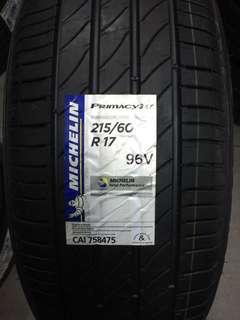 215/60R17 Michelin Primacy 3ST