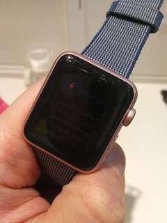 Apple Watch Ser.1 38mm Pink 連充電線 SH009312