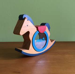 🌻 ANZ Bank Wooden Horse Coin Bank
